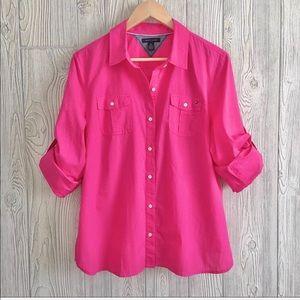 Tommy Hilfiger XL Button-Down Pink Sh…